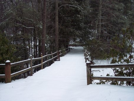 Camp Dixie Bridge In The Snow