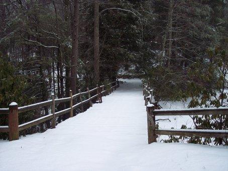 Camp Dixie Bridge In The Snow
